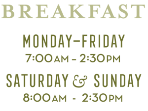 Breakfast Hours