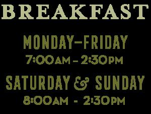 Breakfast Hours